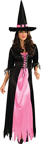 (Rubie's Classic Witch Blue and Black Dress and Hat, Black/Pink,)