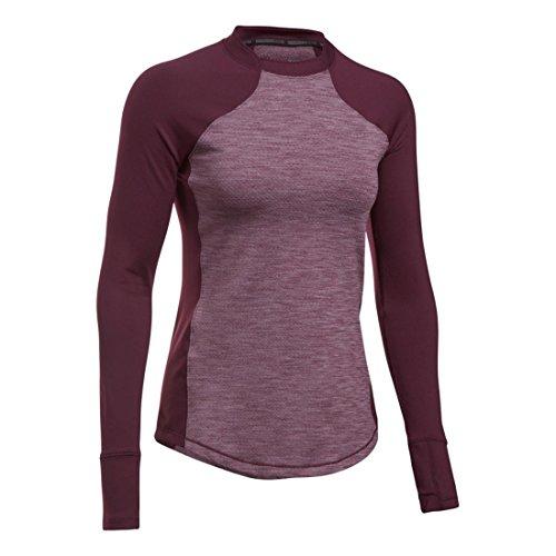 Under Armour Reactor–T-Shirt de Sport pour Femme (Rouge foncé)