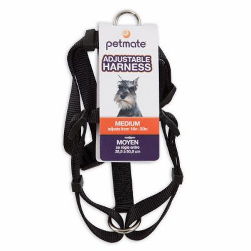 Petmate Aspen PET Products 17210 Dog Harness, 5/8 by 12 to 20-Inch, Black