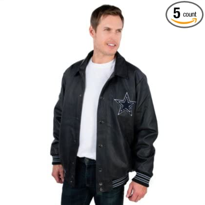 e72e8583f Image Unavailable. Image not available for. Color  Dallas Cowboys PU  Varsity Jacket