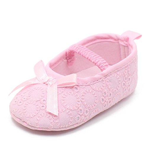 Xinantime Baby Girl Princess Anti-slip New Born Baby Shoes Casual Shoes (6~9M(UK:2), Purple)