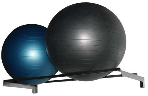 (Storage Rack, Exercise Ball, Wall-mount, Stainless Steel)