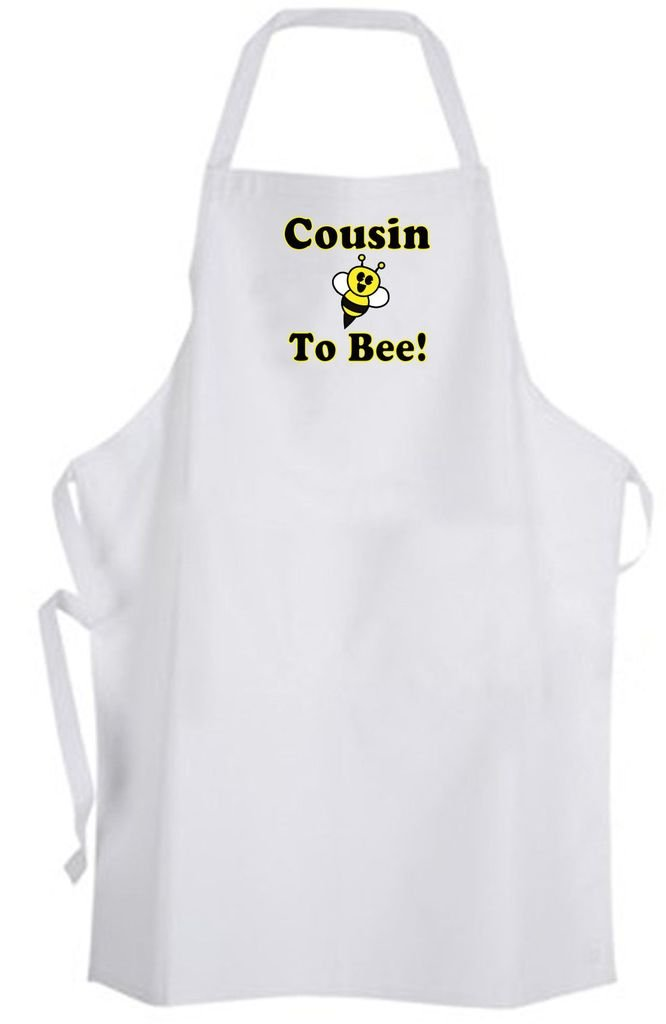 Cousin To Bee! Adult Size Apron - Cute Love Funny Humor New Baby Wedding