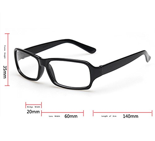 FancyG Vintage Inspired Classic Rectangle Glasses Frame ...