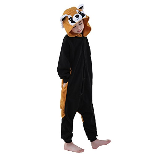 [Sunrise Childrens Pajamas Sleeping Wear Anime Cosplay Onesie Homewear (105#, Raccoon)] (Raccoon Girl Costumes)