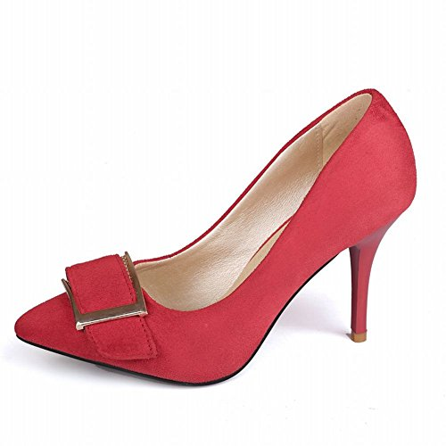 Draagarm Dames Manchet Mode Sexy Charmante Elegantie Naaldhak Pumps Schoenen Rood