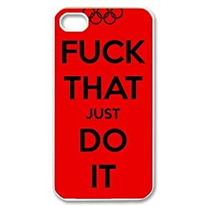 Custom Just Do It Back Cover Case for iPhone 4 4S GP-3522