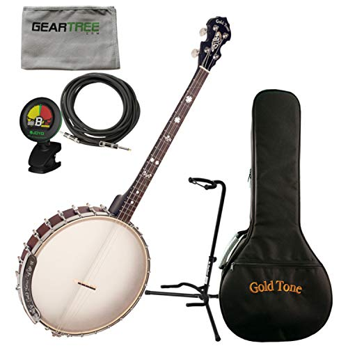 Goldtone IT-19 Irish Tenor Banjo w/Bag, Stand, Cloth, Tuner, and Cable