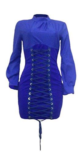Si Lunga Fashion Veste Manica Donne Jaycargogo up Club Bodycon Lace 1 Sexy U17wq4xtq