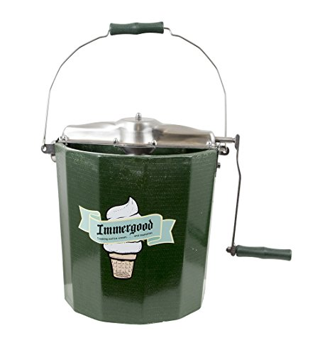 PREMIUM 4 qt. - Stainless Steel Ice Cream Maker - Hand Crank