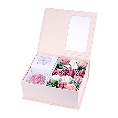 Toyvian Valentine's Day Soap Bouquet Flower Arrangement Box Secret Gift Box ()