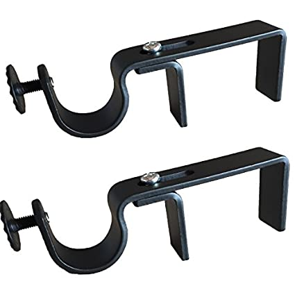 Nono Bracket   Outside Mounted Blinds Curtain Rod Bracket Attachment (Black) by The No No Bracket Company