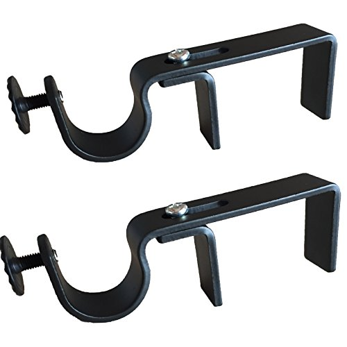 NoNo Bracket - Outside Mounted Blinds Curtain Rod Bracket Attachment - For Curtain Vertical Rods Blinds