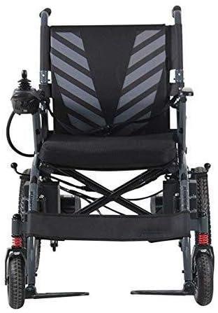 Hyl Sillas de Ruedas Plegable portátil Powerchair Viajes - Silla de Ruedas eléctrica 6 mph Ayuda motriz (1115 * 650 * 1020mm)