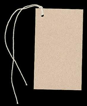 300 Lg BLANK KRAFT Hang Tags /& Strings Size 2-18 x 3-58