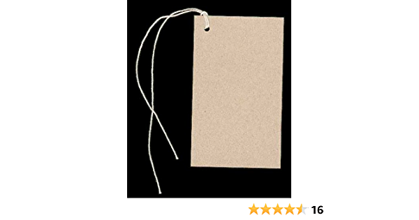 100 BLANK WHITE Hang Tags~Size 2-18x 3-58 /& Choice of String Colors NOT Strung.