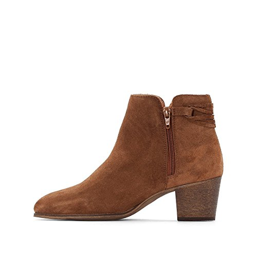 La Redoute Collections Frau Boots, Leder, Flechtdetail Gre 36 Braun