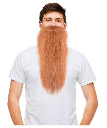 Costume Adventure Fake Beard Blonde Hillbilly Beard Dwarf Beard Rockstar Beard ()