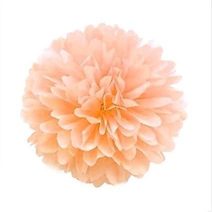 Dark Pink Proglam 10 Pompon in Carta velina da Appendere Ghirlanda per Feste di Matrimonio 15 cm