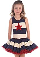 Ooh La La Couture Baby Girls 4th of July Star Dress, Blue