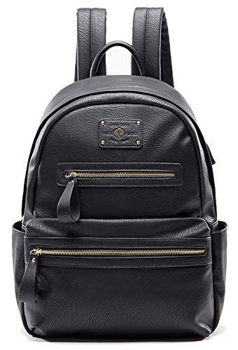 - Miss Fong Backpacks For Women , Leather Backpack for Women, Laptop Backpack with USB Charger,Fits 13 Inch, 14 Inch Laptop (Black)