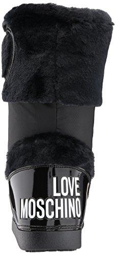 EU Love Moschino Bottes Femme Bottes Femme Moschino JA24232G04JK2 Nylon Love Noir Nylon 1vxwAgg