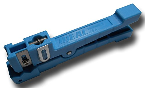 Ideal Fiber Optic / Coaxial Stripper Closepin Buffer Tube 45-163 1/8 to (Ideal Coaxial)