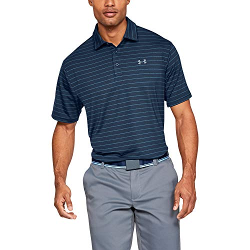 Under Armour Men's Playoff Golf Polo 2.0, Academy/Pitch Gray, 3X-Large
