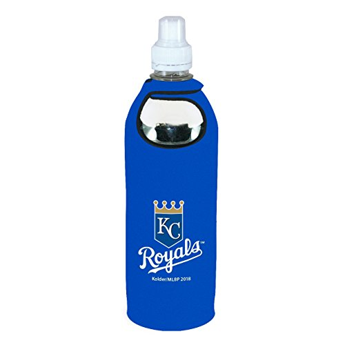 Kansas City Royals 1/2 Liter Water Soda Bottle Koozie Holder Cooler with Clip Baseball ()