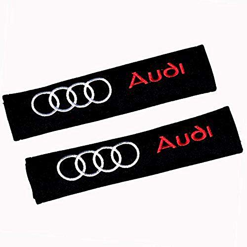 (Fitracker 1 Pair Car Seat Audi Belt Shoulder Pads Embroidery Strap Covers Cushion )