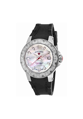 Swiss Legend Women's Quartz Stainless Steel and Silicone Casual Watch, Color:Black (Model: SL14098SM02)