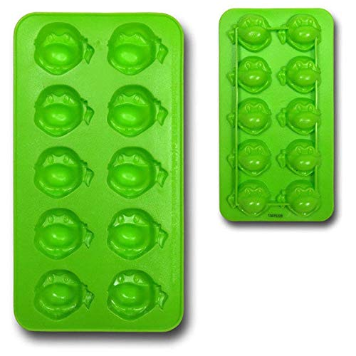 ICUP Nickelodeon - TMNT Turtle Head Molded Green Rubber Ice Cube Tray -
