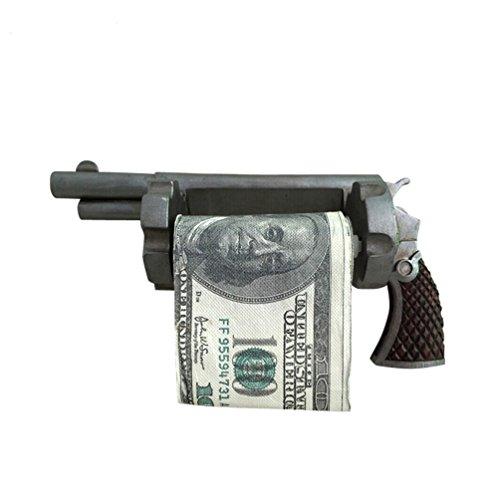 RSM-210 Montana West Western Pistol Toilet Tissue Holder Western Home Decoration