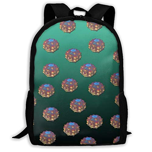 Backpack Water Resistant Men Women Hiking Daypack Disco Urchin- Green Ombre_722 Travel Backpack