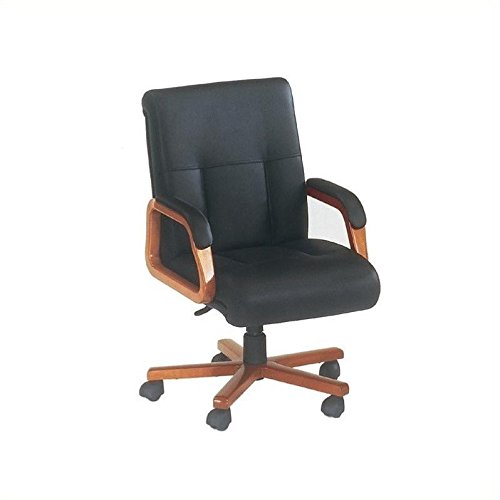 DMi Belmont Executive Leather Mid Back Office Chair - Brown ()