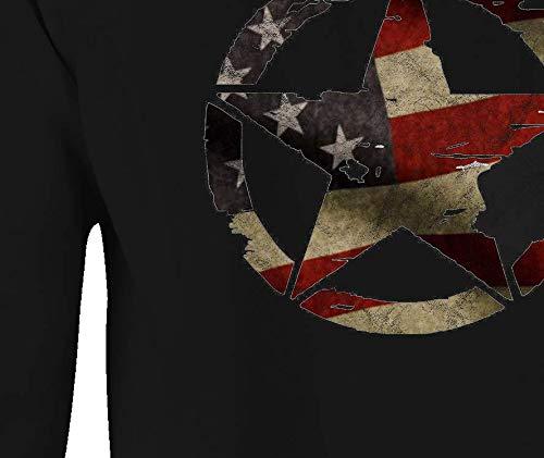 Buy oscar mike military jeep star vintage american flag