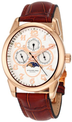 Stuhrling Original Men's '173L.3345E2 Classic Traveler Aviator Calendar Swiss Quartz Watch