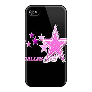Slim Fit Tpu Protector Shock Absorbent Bumper Dallas Cowboys Case For Iphone 4/4s