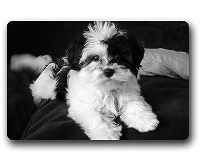 """TSlook Doormat Shih Tzu Puppy Indoor/Outdoor/Front Welcome Door Mat(23.6""""x15.7"""",L x W)"""