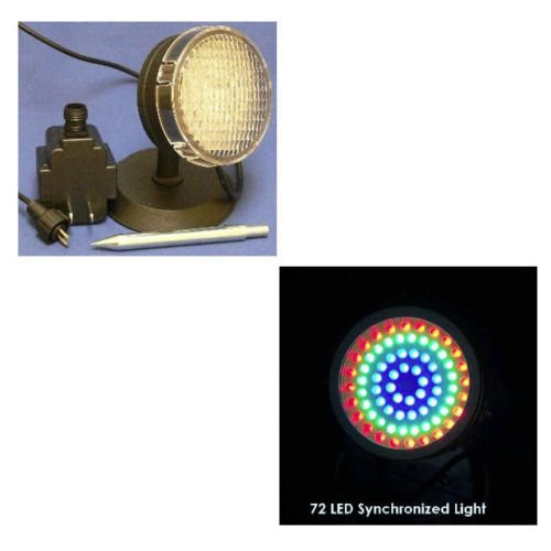 72 RGB LED Outdoor Submersible Pond Landscape Light Synch Version