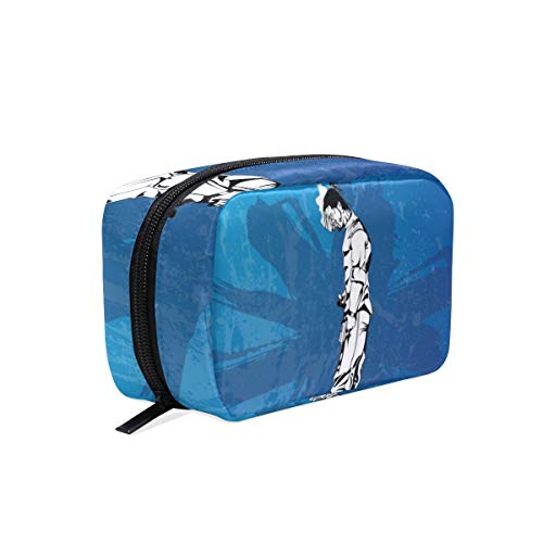 FANTAZIO Cosmetic Bags for Women Cool Gangster Make Up Pouches -