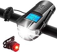 QUMOX Wireless Speedometer Waterproof Computer Bicycle Odometer LED Light Bike Bell