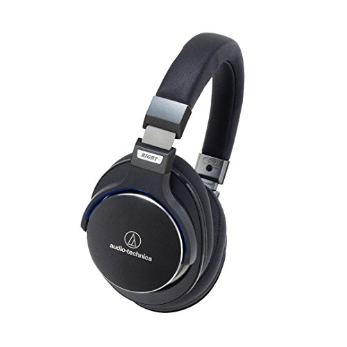 Audio-Technica ATH-MSR7BK SonicPro Over-Ear High-Resolution Audio Headphones, Black (Certified Refurbished) by Audio-Technica
