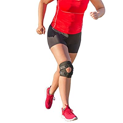 BraceAbility Patellar Tracking Short Knee Brace | Running, Exercise & Basketball Support Sleeve Stabilizer for Post Kneecap Dislocation, Tendonitis, Patellofemoral Pain & MCL / LCL Injuries