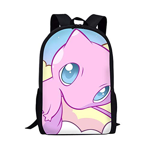 CuMagical Pokemon School Backpack Lightweight Cute Cartoon Book Bag For Kids 5-13 Year Old (Best Camera For 13 Year Old)