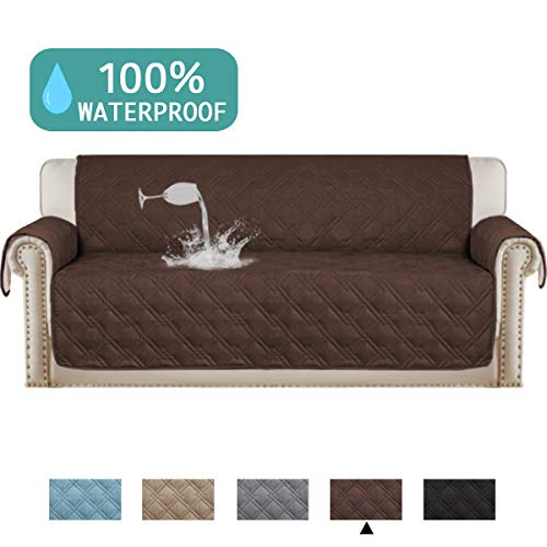 (Waterproof Sofa Cover Protector for Living Room Deluxe Couch Cover Perfect for Leather Couch Machine Washable Sofa Protector Features Protect from Pets Wear and Tear (Oversize Sofa,86