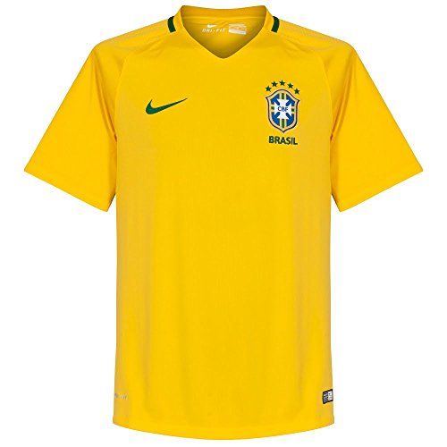 Soccer Jersey Officials Adult - Nike Brazil Home Stadium Soccer Jersey (X-Large) Yellow