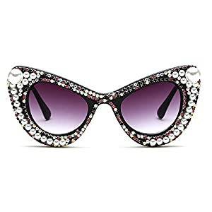 Slocyclub Women Vintage Inspired Mod High Pointed Cat Eye Sunglasses