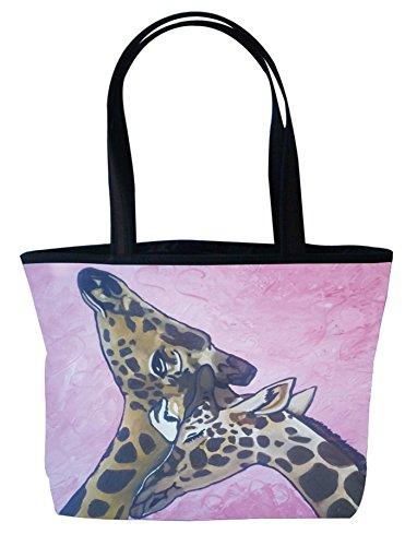 Giraffe Handbag Purse - Shoulder Bag, Vegan Tote Bag, Handbag- Animals - From My Original Painting, Comfort - Support Wildlife Conservation