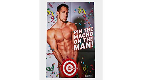 - Bachelorette Party Game The Macho On The Man Poster Game Dirty Version of Pin The Tail on The Donkey
